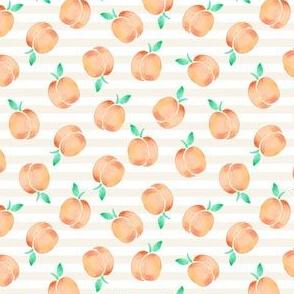 peachy stripe- mini