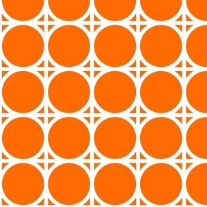 Carrot / White Connection Pattern