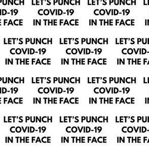 Face Mask / Small Scale / Let's punch COVID-19 in the face / Coronavirus