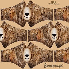 Bearmask Size XL Adult (Male) - bear face mask
