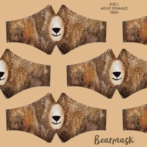 Bearmask Size L - Adult (female) and Teen, bear face mask