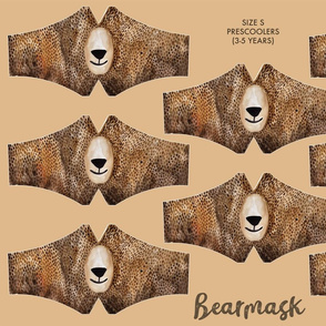 Bearmask Size S - preschooler (3-5 years), bear face mask