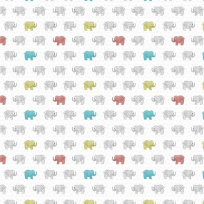 Elephants in  tri color