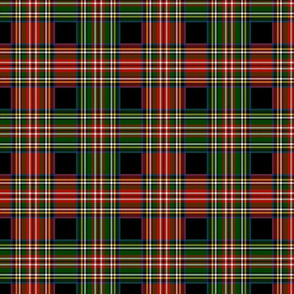Royal Stewart Dress Tartan Christmas Blend on Black