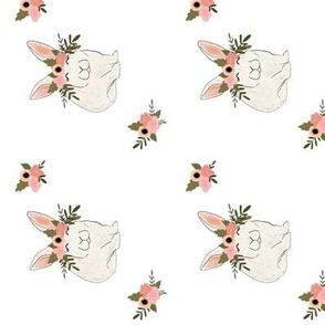 Floral bunny, boho bunny, easter bunny, rabbit