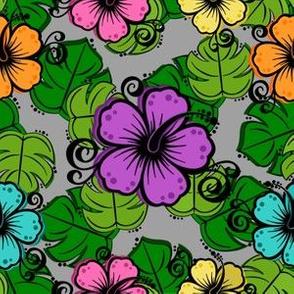 Tropical_Hibiscus_Garden-Grey_SFL
