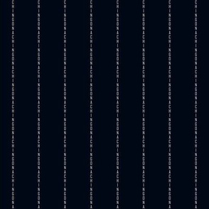 Chingona Pinstripe in Black