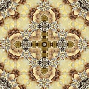 "Golden Roman Star / Cross  - 7"" Square"