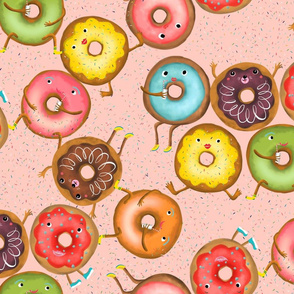 dancing donuts // rose // large scale