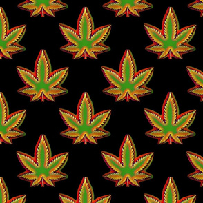 Rastafarian Marijuana Pot Leaf