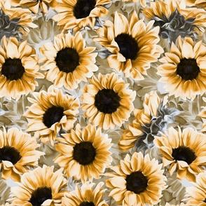 Dreamy Autumn Sunflowers custom scale