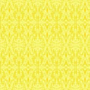 Lacy Texture of Dandelion Yellow on Sunbeam Yellow