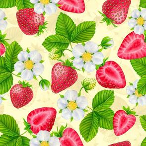 Strawberries on cream for Midsummer festival