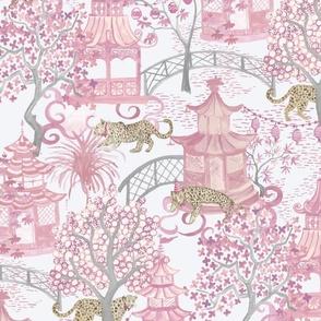 Custom blush pink bowtie tigers