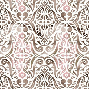 Watercolor damask - neutral - small scale