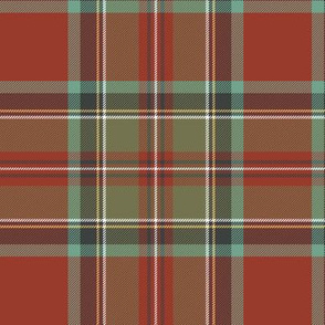 "Royal Stewart / Stuart tartan, 6"" faded"