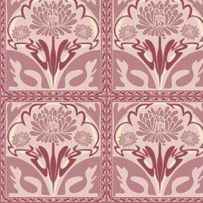Art Nouveau Floral Vintage Inspired Tile