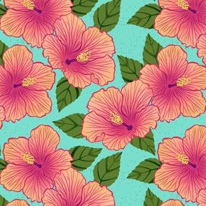 Hibiscus - turquoise
