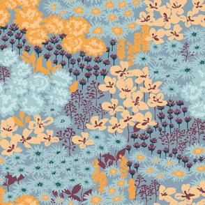 Tiny flowers field