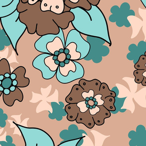 Flower-Doodle_LineArt-Collection_Hero-BlueBrown