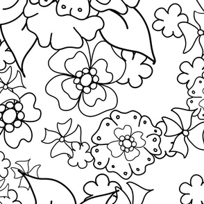 Flower-Doodle_LineArt-Collection_Hero-BW