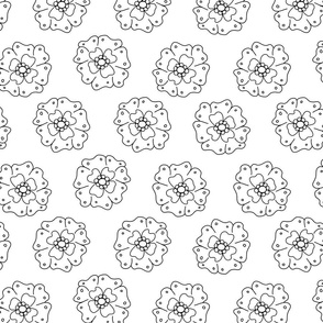 Flower-Doodle_LineArt-Collection_Sub4_BW