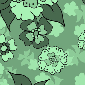 Flower-Doodle_LineArt-Collection_Hero-Green