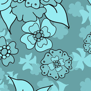Flower-Doodle_LineArt-Collection_Hero-Mint