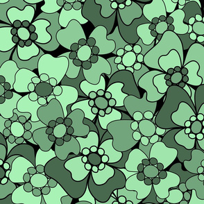 Flower-Doodle_LineArt-Collection_Sub1-Green