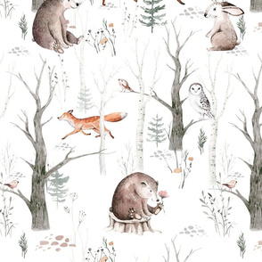 Scandinavian  watercolor forest 10