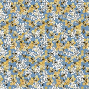 Save The Honey Bees - Bright Blue - Micro