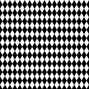 Harlequin Diamonds ~ Black & White ~ Small