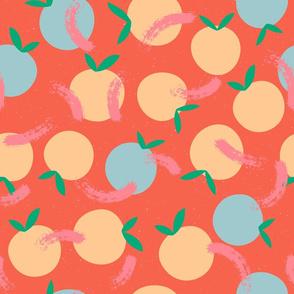 Citrus splatterware Tangerine  / Green