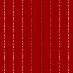 Chingona Pinstripe in Red
