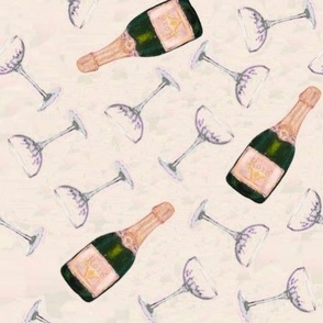 "pink champagnes - half drop repeat 10.5"" bottles"