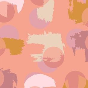 Paint Circles - Peachy