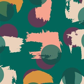 Painted Circles - Emerald