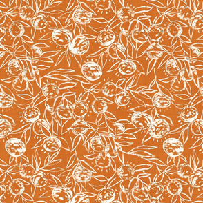 "Malibu Mandarins outline (terracotta) 14"""
