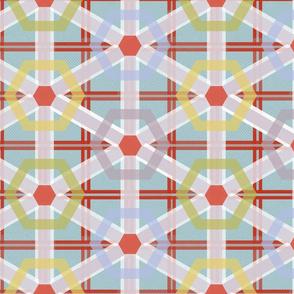 Festive plaid party table cloth