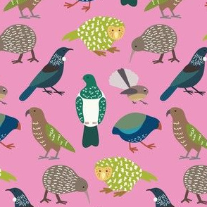 Cute New Zealand Birds - Now with Tui! PINK