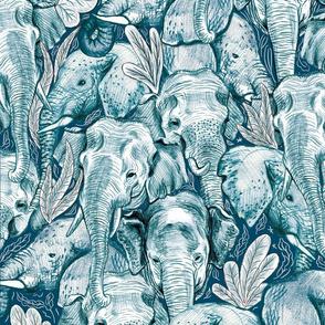 Elephant Hug Teal