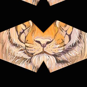 "Tiger mask, 8"" swatch size  // covid19 protection"