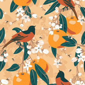 Citrus and birds.