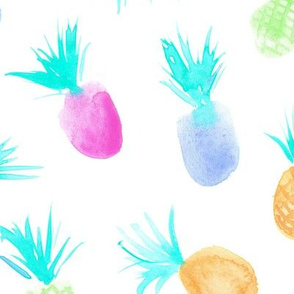 Large scale candy pineapples for sweet summer - pastel tropical print for modern nursery