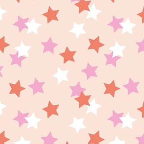 Little stars sparkles sky sweet dreams abstract boho nursery design pale nude pink coral