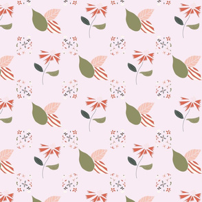 Diagonal sweety floral