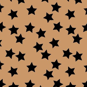 Little stars sparkles sky sweet dreams abstract boho nursery design moka cinnamon brown