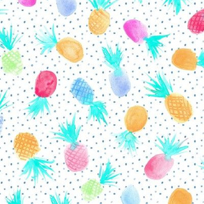 Candy pineapples for sweet summer - watercolor pastel pineapple design