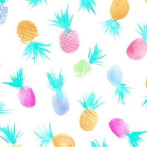 Candy pineapples for sweet summer ★ pastel watercolor pineapple for modern nursery, kids