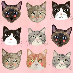 """16"""" Cats - Pink"""